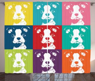 Pop Art Dogs Curtain