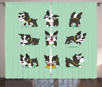 Cartoon Figures Curtain