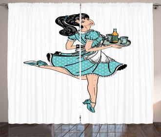 Pony Tail Waitress Curtain