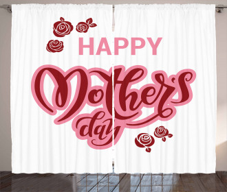 Happy Mothers Day Roses Curtain