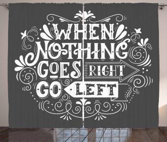 Inspirational Message Curtain