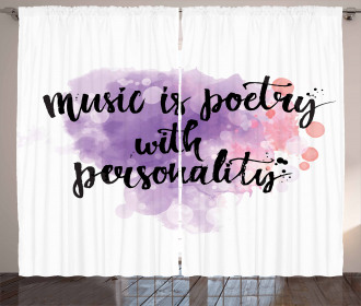 Music is a Poetry Slogan Curtain