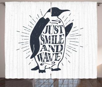 Penguin Waving Flipper Curtain