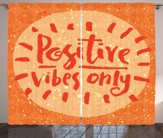 Positive Vibes Doodle Curtain