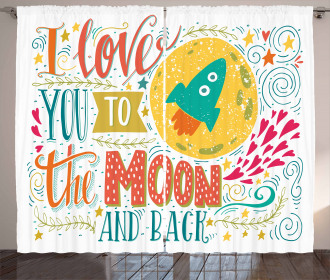 I Love You to the Moon Curtain