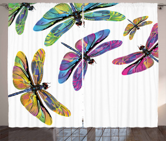 Sixties Style Animals Curtain