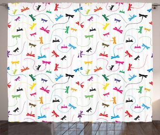 Spring Wildlife Motif Curtain