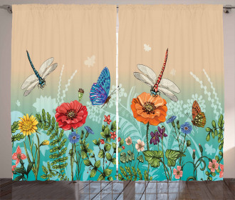 Flourishing Nature Bugs Curtain