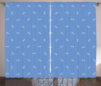 Oriental Dragonfly Curtain