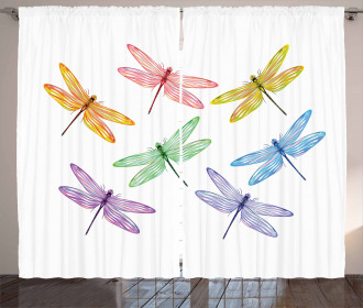 Fantasy Bugs Pattern Curtain