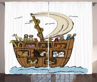 Ancient Flood Story Curtain