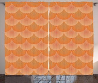 Optic Circles Graphic Curtain
