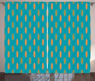 Wave Board Summer Pattern Curtain