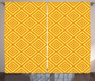 Rhombus Grid Curtain