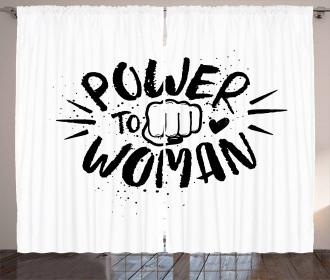 Power Woman Fist Shape Curtain
