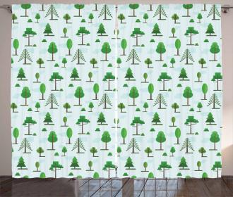 Spring Woodland Curtain