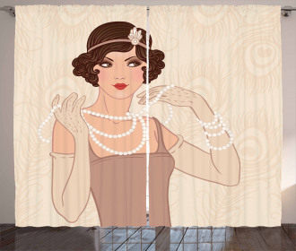 Brunette Flapper Curtain