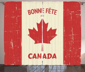 Happy Canada Concept Curtain