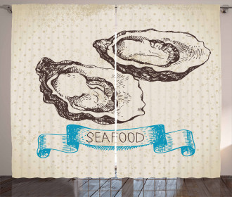 Sketch Virginica Oyster Curtain