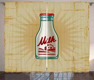 Retro Milk Bottle Curtain