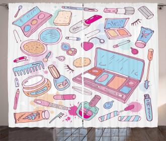 Makeup Cosmetics Glamor Curtain