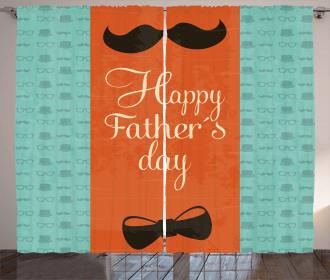Mustache Bowtie Curtain