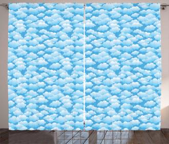 Puffy Cumulus Formation Curtain