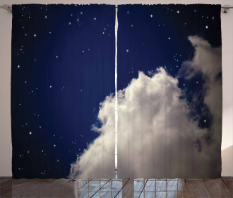Nocturnal Theme Night Sky Curtain