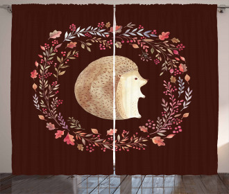 Leaf and Berry Wreath Curtain