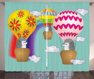 Animals in Balloons Curtain