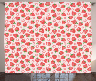Retro Style Print Curtain