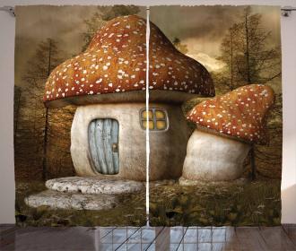 Mushroom Forest Curtain