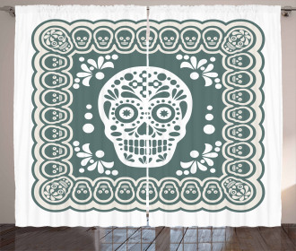 Mexican Symbols Curtain