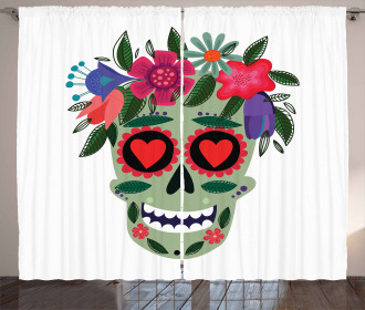 Mexican Floral Wreath Curtain
