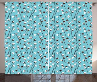 Harvest Season Pattern Curtain