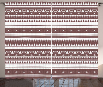 Tribal Geometrical Design Curtain