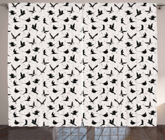 Crane and Pigeon Eagle Curtain