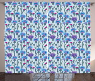 Thistle Bouquet Print Curtain