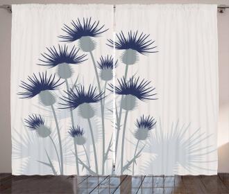 Gardening Theme Flowers Curtain