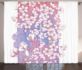 Japanese Spring Bloom Curtain