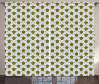 Flock Geometric Shells Curtain