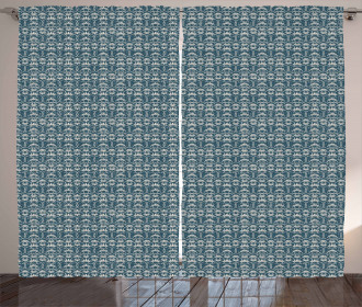 Chinese Floral Motifs Curtain
