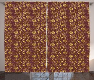 Antique Oriental Pattern Curtain
