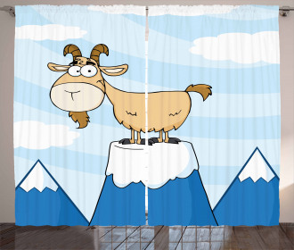 Doodle Goat Mountain Pick Curtain