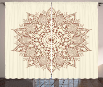 Ethnic Round Lace Curtain