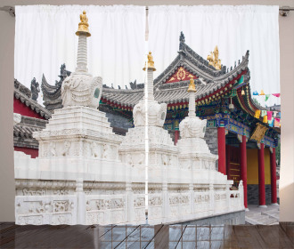Historic Chinese Temple Curtain