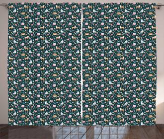 Woodland Nature Pattern Curtain