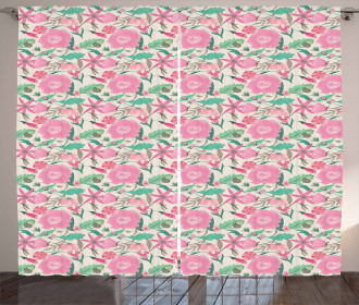 Vintage Nature in Bloom Curtain