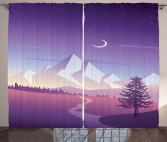 Mountain Scenery Curtain