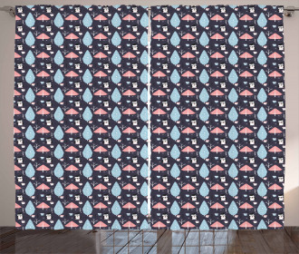 Penguins Boxes Trees Curtain